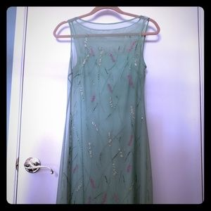 BCBG Size S Green keen Length Elegant Dress.